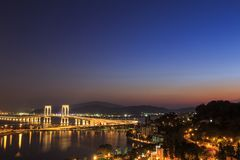 Macau на ноче Стоковое Изображение