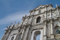 Macau. The Ruins of St. Paul's in Macau Royalty Free Stock Photo