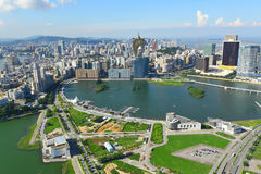 Macau. City view from high point Royalty Free Stock Image