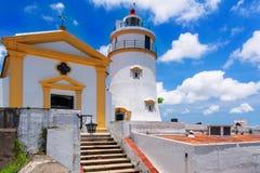 Macau. Guia Lighthouse, Fortress and Chapel, Macau Royalty Free Stock Images