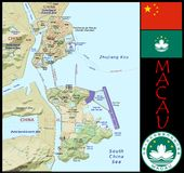 Macau Administrative divisions Stock Photography