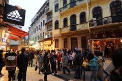 Macau alla notte Fotografia Stock