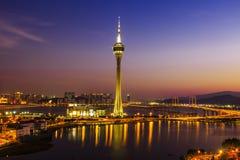 Macau alla notte Fotografia Stock Libera da Diritti
