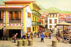 Macau Ancient Life Model, Macau, China Stock Photos