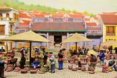 Macau Ancient Life Model, Macau, China Stock Photography