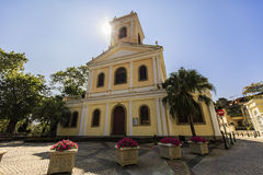 Macau architecture of colonial house Stock Photography