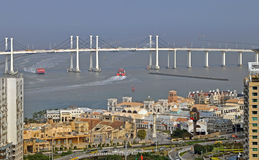 Macau bridge Royalty Free Stock Photo