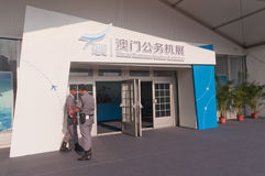 Macau business aviation exhibition 2013 Royalty Free Stock Images