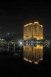 Macau casino. Night sence of casino in macau royalty free stock photos
