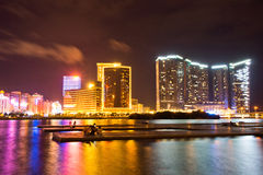 Macau Casino City Night Stock Photography