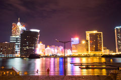 Macau Casino City Night Stock Images