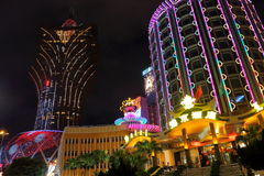 Macau : Casino Lisboa & Grand Lisboa Hotel Royalty Free Stock Photos