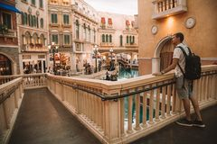 Interior View of Venetian Macao Resort Hotel Royalty Free Stock Photos