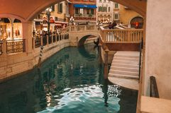 Interior View of Venetian Macao Resort Hotel Stock Photo