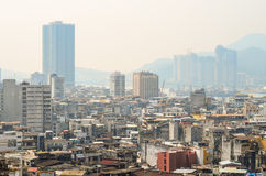 MACAU, CHINA - February 9, 2015: Exterior of the downtown Macau Royalty Free Stock Photo