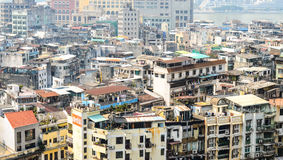 MACAU, CHINA - February 9, 2015: Exterior of the downtown Macau Royalty Free Stock Photography