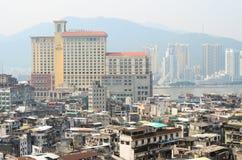 MACAU, CHINA - February 9, 2015: Exterior of the downtown Macau Stock Photo