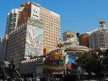 Image of the Lisboa Casino in Macau royalty free stock photos