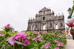 Macau, China, Ruins of St.Paul Royalty Free Stock Photo