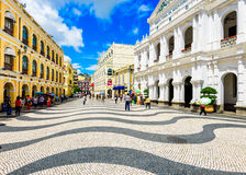 Macau, China at Senado Square Royalty Free Stock Photos