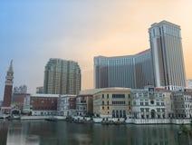 Venetian Macao hotel and casino resort in Macau at sunset Royalty Free Stock Photos