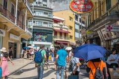 Historic Centre of Macau stock image
