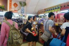 Macau, China: traditional snack bar Stock Photos