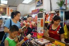 Macau, China: traditional snack bar Stock Image