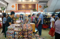 Macau, China: traditional snack bar Royalty Free Stock Photos