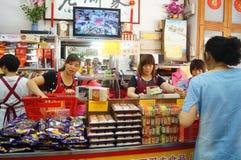 Macau, China: traditional snack bar Stock Photo