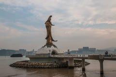 Macau Chiny, Feburary 28, - th 2016: statua Kuna jestem statuą Obrazy Royalty Free
