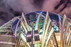 MACAU CHINY, KWIECIEŃ, - 2014: Miasto linia horyzontu z kasyn światłami przy n Zdjęcia Stock