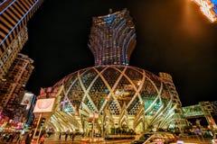 MACAU CHINY, STYCZEŃ, - 24, 2016: Uroczysty Lisboa hotel w Macau Zdjęcie Stock