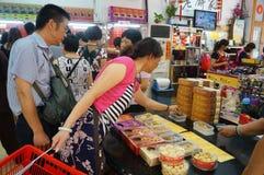 Macau, Chiny: tradycyjny przekąska bar zdjęcie royalty free
