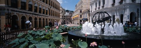 Macau city. The main street of Macau Stock Photography