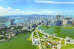 Macau city at day. It is a macau scene at day Stock Image