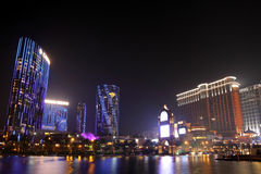 Macau : City of Dreams & Sands Contai Central royalty free stock photo