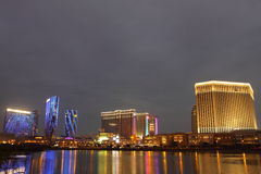 Macau : City of Dreams, Sands Contai Central & Ven Stock Image