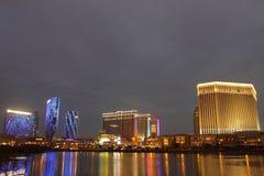 Macau : City of Dreams, Sands Contai Central & Ven stock image