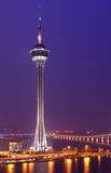 Macau city at night Stock Images