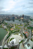 Macau city. View of the city center from Macau Tower Stock Photo