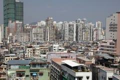 Macau cityscape. High density housing in Macau. - Taken from Fort Guia Stock Photo
