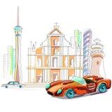 Macau cityscape background Royalty Free Stock Image