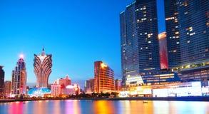 Macau cityscape of bridge and skyscraper in macau Stock Image