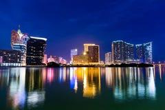 Macau cityscape at night Royalty Free Stock Image