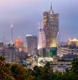 Macau cityscape night Royalty Free Stock Image