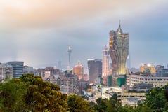 Macau cityscape night Stock Photography