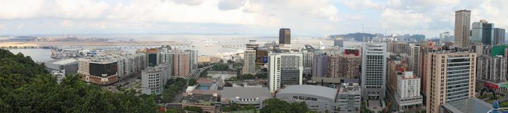 Macau cityscape panorama, China royalty free stock photography