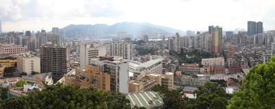 Macau cityscape panorama, China royalty free stock images