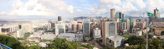 Macau cityscape panorama, China Royalty Free Stock Photos